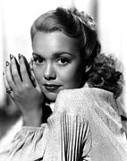 Wyman Prints - Jane Wyman Around 1940 Print by Everett