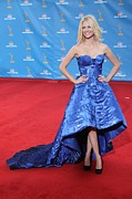 Ball Gown Metal Prints - January Jones Wearing An Atelier Metal Print by Everett