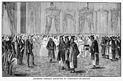 Reception Room Framed Prints - Japanese Embassy, 1860 Framed Print by Granger
