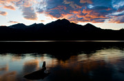 Pyramid Mountain Framed Prints - Jasper - Pyramid Lake Sunset Framed Print by Terry Elniski