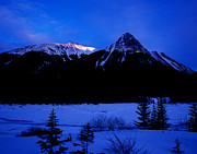 Canadian Rockies Photos - Jasper National Park In Winter Time by Terry Elniski