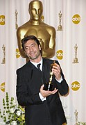 Lapel Framed Prints - Javier Bardem Winner, Best Supporting Framed Print by Everett