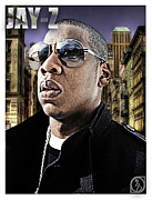 Rapper Mixed Media Framed Prints - Jay Z Framed Print by The DigArtisT