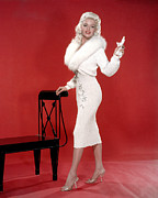 1950s Portraits Metal Prints - Jayne Mansfield, 1950s Metal Print by Everett