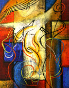 Jazz  Abstract Paintings - Jazz-Funk by Leon Zernitsky