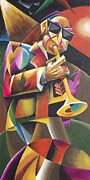 Band Painting Originals - Jazz Horn by Bob Gregory