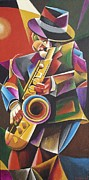 Band Painting Originals - Jazz Sax by Bob Gregory