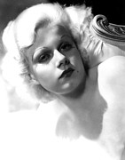 Harlow Framed Prints - Jean Harlow Framed Print by Everett