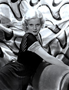 Chaise Prints - Jean Harlow, Mgm, 1930s Print by Everett