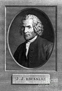 Romanticism Posters - Jean-jacques Rousseau, Swiss Philosopher Poster by Photo Researchers