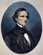 Commander Prints - Jefferson Davis 1808-1889, President Print by Everett