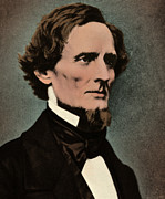 Confederate States Of America Posters - Jefferson Davis, President Poster by Photo Researchers