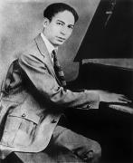 Pianist Framed Prints - Jelly Roll Morton Framed Print by Granger