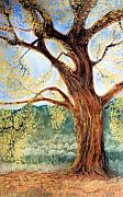 New Mexico Pastels Originals - Jemez Cottonwood by Jan Amiss