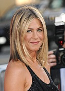 Bobbed Hair Framed Prints - Jennifer Aniston At Arrivals Framed Print by Everett