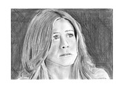 Actress Drawings Framed Prints - Jennifer Aniston Framed Print by Gabor Vida