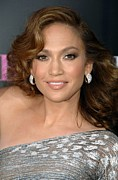 Curled Hair Art - Jennifer Lopez At Arrivals For The by Everett