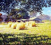 Country Painting Originals - Jenny Rays Farm by Kevin Lawrence Leveque