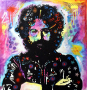 Icons  Paintings - Jerry Garcia by Dean Russo