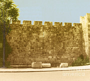 Holy Land Framed Prints - Jerusalem City Wall, Historic Site Framed Print by Photo Researchers