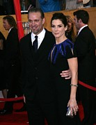 Actors Prints - Jesse James, Sandra Bullock At Arrivals Print by Everett
