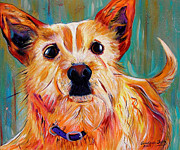 Dog Greeting Cards Prints - Jesses Girl Print by Andrea Folts