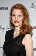 Jessica Chastain Framed Prints - Jessica Chastain At Arrivals For Bright Framed Print by Everett