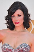 Curled Hair Prints - Jessica Pare At Arrivals For The 63rd Print by Everett