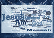 Word Cloud Prints - Jesus Messiah 2 Print by Angelina Vick