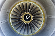 Fan Metal Prints - Jet engine detail. Metal Print by Fernando Barozza