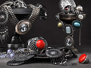 Silver-filled Art - Jewellery Still Life by Oleksiy Maksymenko