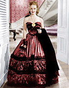 Ball Gown Framed Prints - Jezebel, Bette Davis, 1938 Framed Print by Everett