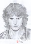Jim Morrison Print by Eliza Lo