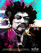 Rock N Roll Digital Art - Jimi 333 by Bobby LeVangie