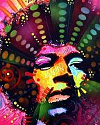 Musician Mixed Media - Jimi Hendrix by Dean Russo