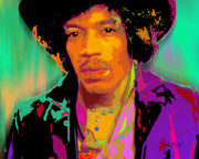Keaton Digital Art - Jimi Hendrix by John Keaton
