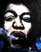 Purple Haze Paintings - Jimi Hendrix  by Jon Baldwin  Art