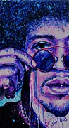 Neon Effects Painting Originals - Jimi Hendrix by Shirl Theis