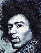 Jimi Paintings - Jimi Hendrix by Tom Roderick
