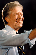 Carter Photo Posters - Jimmy Carter Poster by Everett