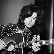 Music Photo Prints - Jimmy Page 1970 Print by Chris Walter