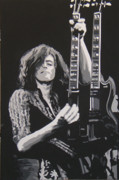 Jimmy Page Artwork Paintings - Jimmy Page by Michael James  Toomy