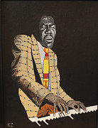 Ken Zabel Metal Prints - Jimmy Smith.King of the jazz Hammond B-3. Metal Print by Ken Zabel