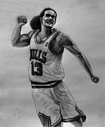 Chicago Drawings Prints - Joakim Print by Adam Barone