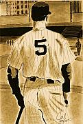 Yankees Drawings Originals - Joe D. by Jason Kasper