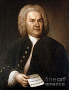 European Artwork Framed Prints - Johann Sebastian Bach, German Baroque Framed Print by Photo Researchers