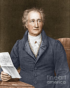 Goethe Prints - Johann Von Goethe, German Author Print by Photo Researchers, Inc.