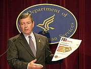Press Conference Posters - John Ashcroft, The 79th United States Poster by Everett
