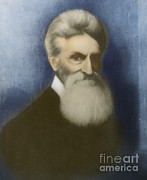 Militant Framed Prints - John Brown, American Abolitionist Framed Print by Photo Researchers