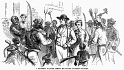Fanciful Metal Prints - John Browns Raid, 1859 Metal Print by Granger